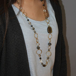 Necklace, costume, chain, red stones, Cookie Lee